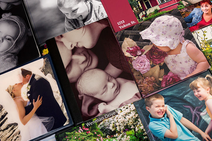Custom created printed photograph books for your family, event, wedding, home, or business